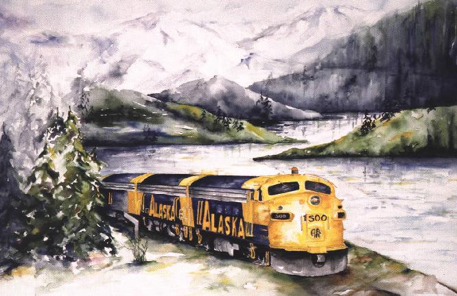 Alaska Train at Turnagain